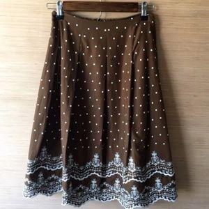 INC Skirt Layered Lined Polka Dot Size 12 NWTS